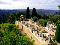 cemetery in St Paul, Provence - Marc Chagal is here