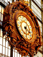 large clock in the Musee D'Orsay